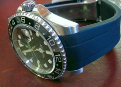 Rubber B Strap for Rolex Installed