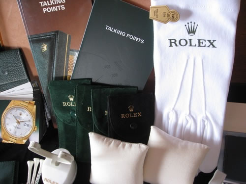 Rolex Pouches and Gloves