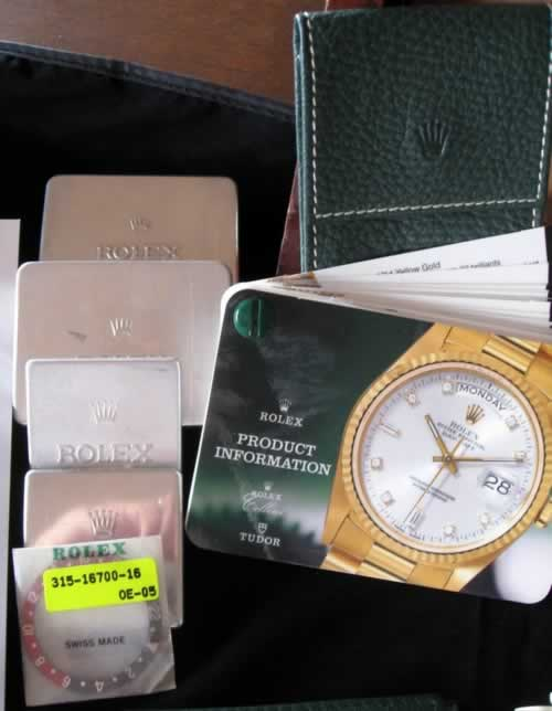 Rolex Product Information Cards